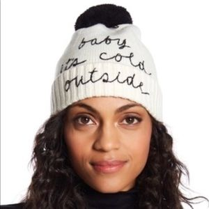 Kate Spade New Beanie W/ Pom $68 Winter Hat
